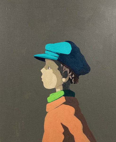 peaked cap - Acryl auf Leinwand, 60x50cm, 2020