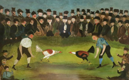 Naive oil of a cock fight