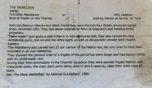 Mid 19th century woolwork battleships