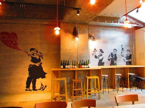 「室町Cafe 3+5 HACHI」  壁面デザインPROJECT