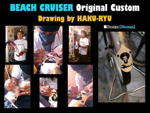 Drawing on the Fender of BEACH CRUISER