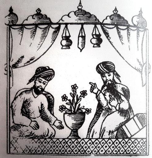 Borzuie e il cronista indiano - dal libro Calila e Dimna di Kader Abdolah, edizione Iperborea