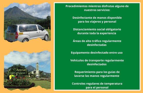 Viajes con Arenal Evergreen y Protocolos de Viaje
