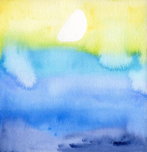 水彩画「moonlight」