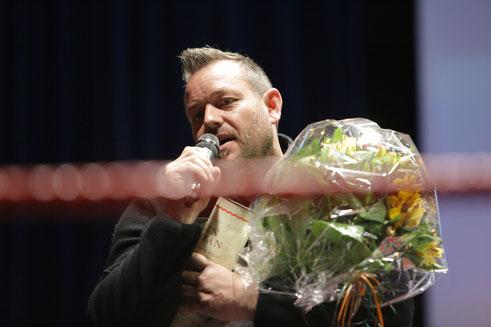 Tobi Kron geehrt zu seinem zus. Amt als Präsident beim Zürcher Kantonalverband vom Box-Ring Zürichsee