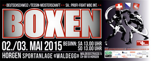 Veranstalter: Box-Ring Zürichsee/Horgen mit IG Box Series Zurich 2015
