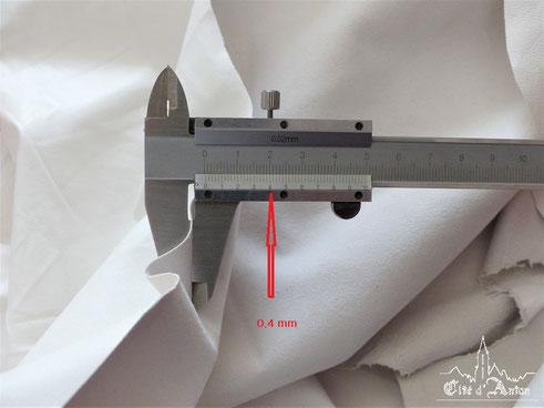 Fig. 38 Epaissseur du cuir