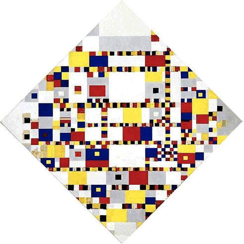 'Victory Boogie Woogie' - Piet Mondrian (1944)