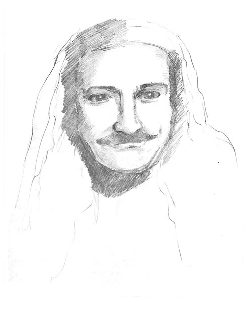 """3.  Maud's drawing from the book """"The Spiritual Science of Meher Baba""""."""