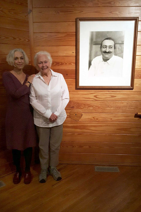 June 2017 : Ella with her daughter Viola at the Meher Center, Myrtle Beach, SC.  Photo taken by Anthony Zois