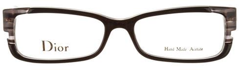 Occhiali da vista Christian Dior donna. Modello: 3192. Colore: I5A BLK GRY grigio. Calibro 52-15. Prezzo: 148,00. Spedizione gratis. Materiale: plastica. Forma: rettangolare.