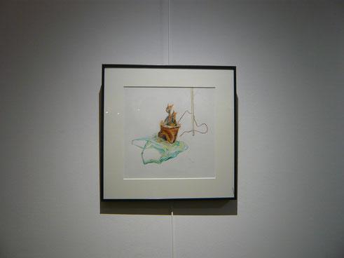 Dessin crayon de couleur 40X40cm ( Nicolas Marquet ) 2014