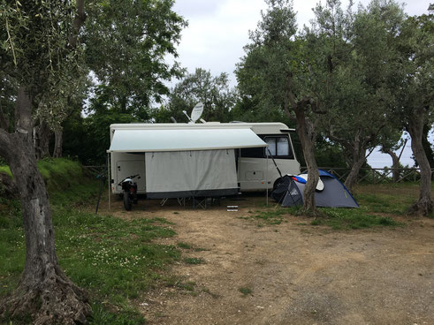 CAMPING SANTA FORTUNATA IN SORRENTO, ITALIEN