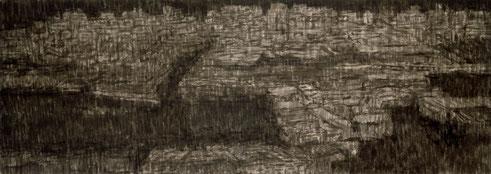 Der Weg in Afrika, Tusche auf Papier