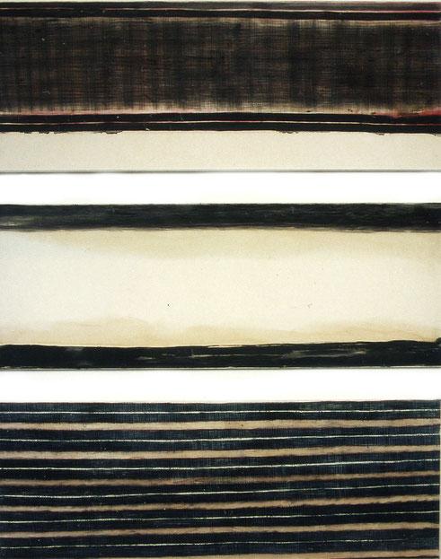 Der Wege, Kreide & Tusche auf Papier, 150 x 55 Cm