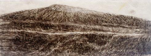 Der Weg in Afrika,  Tusche auf Papier, 150 x 55 cm