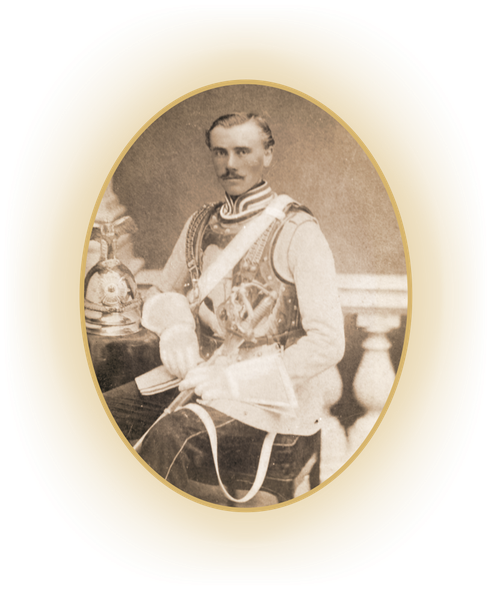 Rittergutspächter Friedrich Steinhoff zur Ahse, Großvater von Erna Heinen-Steinhoff  in Uniform, ca. 1890