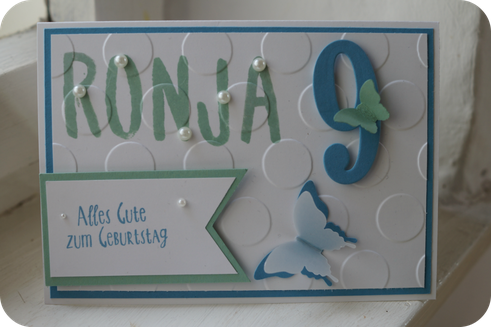 Geburtstagskarte von Maja