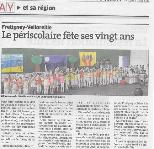 L'Est Républicain 4/06/2016