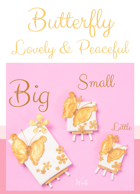 "Butterfly ""Lovely and Peaceful"", in den Größen Big, Small und little"