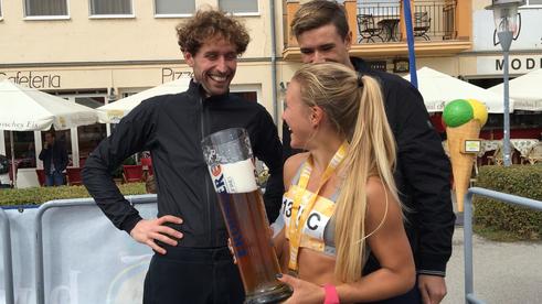 Julia Mayer Triathlon Lukas Bauernberger Valentin Bayer Podersdorf Austria Triathlon Sieger