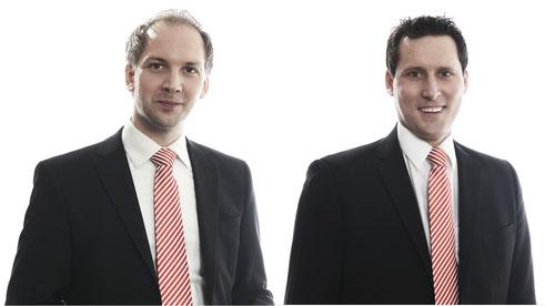 Links Kevin Langner, ab 2017 neuer BFV-Geschäftsführer, rechts Michael Lameli künftig Gneraldirektor des DLV. Foto: BFV