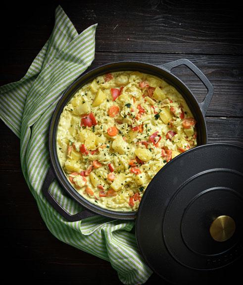 Curry Wirsingtopf mit Kartoffeln, vegetarisch, vegan, Thermomix