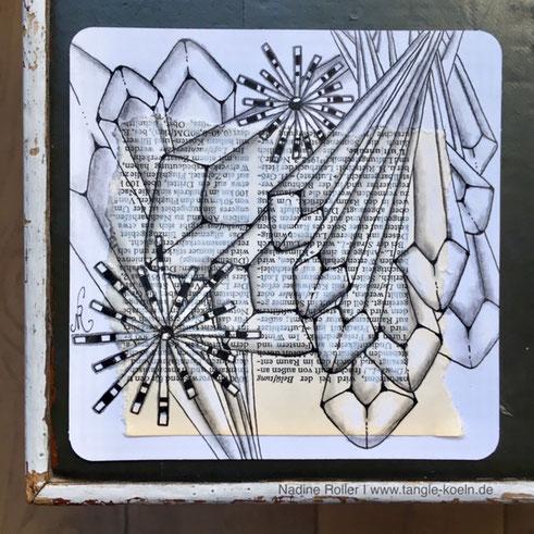 ANTHEM Dieses Hubsche Neue Muster Meiner Amerikanischen Zentangle Schwester Jody Genovese CZT Musste Ich Unbedingt Ausprobieren