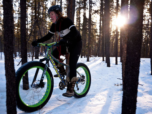 balade en fatbike dans les bois
