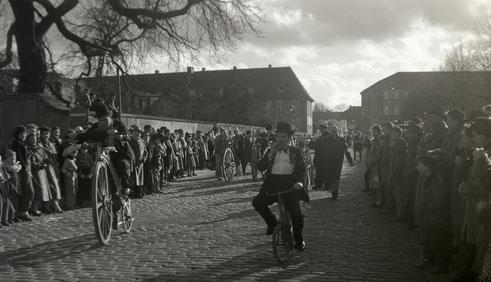 1958 Am Schlossplatz Richtung Landgericht
