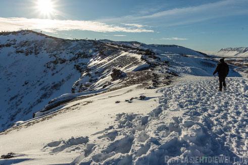 Krater,Kerið,Kratersee,Golden,circle,winter,Tipps,Island,selber,fahren,Schnee,Iceland