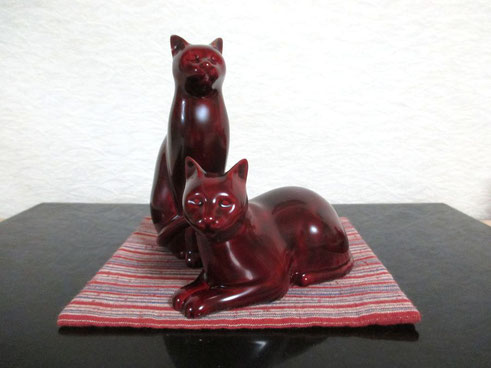 猫 「置物」