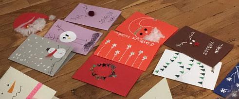 Loisirs créatifs, activités manuelles pour enfants, Noël, Jour de l'an, cartes, cadeaux