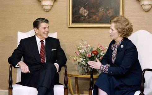 R. Reagan et M. Thatcher