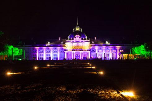 Der illuminierte Kurpark von Bad Oeynhausen (c) Silke Wedler
