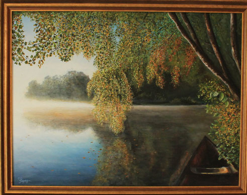 """""""Ruhe und Frieden am See"""" Acryl auf Leinwand"""