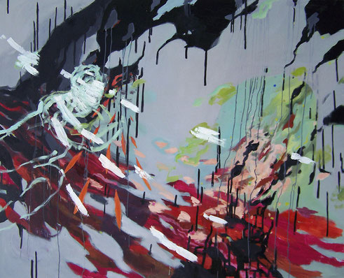 Black Drip, Oil on canvss, 150 x 180 cm, 2014