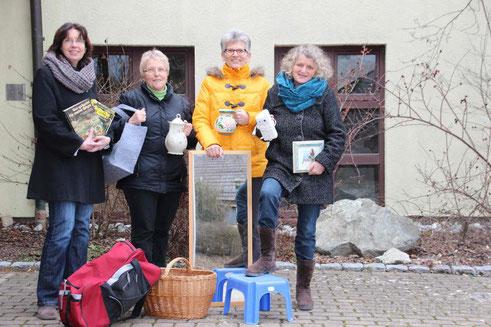(von links): Sigrid Weißhaupt, Leiterin der Förderschule, Anita Schönberger aus Rohrdorf, Sieglinde Danner aus Meßkirch und Irina Rebholz aus Worndorf.