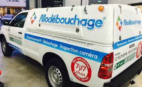 camion hydrocureur AlloDébouchage