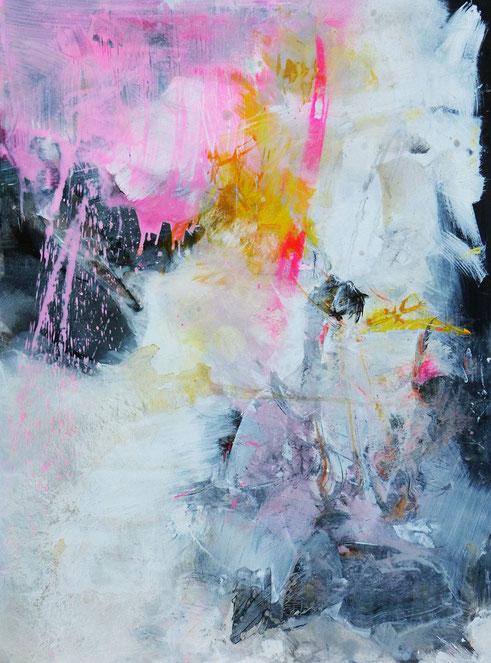 Scélérate. Acrylique sur toile Dim130cmx97cm