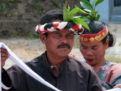 Batak bevolking op Samosir bij Sumatra