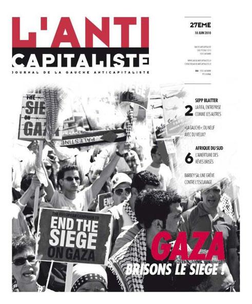 L'Anticapitaliste N° 27  - Journal de la  Gauche Anticapitaliste (Suisse romande)