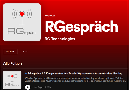RGespräch RG Technologies Podcast Spotify