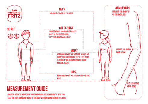 measurement guide instruction how to take your body measurements