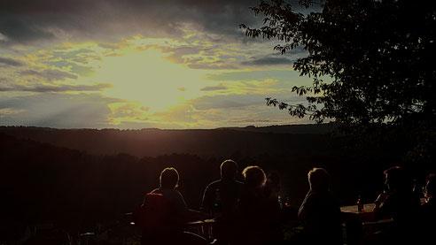 Sonnenuntergang - Wanderung zum ´Knippchen´am 17. August. Quelle: Horst Rumpf