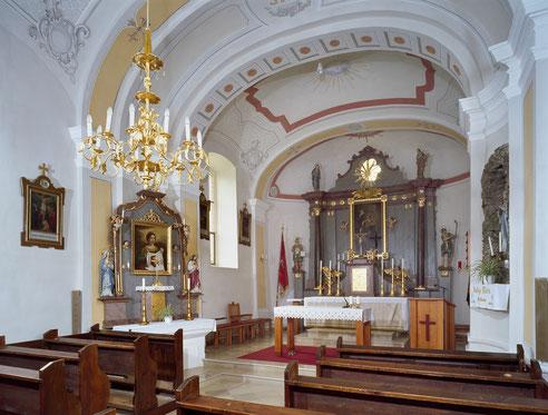 Filialkirche Karl nach der Innenrenovierung 2010