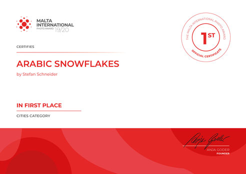 1. Place Category Cities @Malta International Photo Award 19/20
