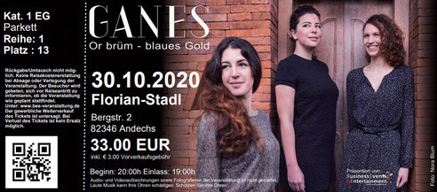 Ganes im Florian-Stadl Andechs, Or brüm - Blaues Gold