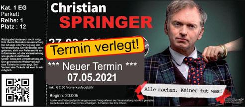 """Christian Springer """"Alle machen, keiner tut was."""""""