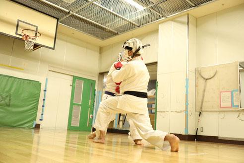 中目黒空手クラブ スポーツ組手の稽古2